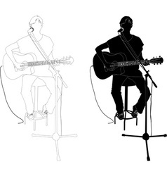 girl playing guitar vs vector image vector image