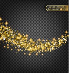 festive of falling shiny vector image