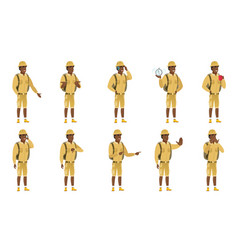 set of traveler characters vector image