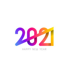 2021 happy new year symbol design vector image