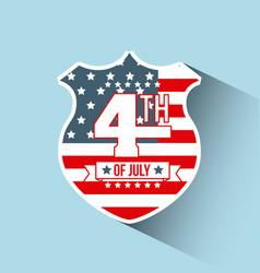 4th of july emblem image vector