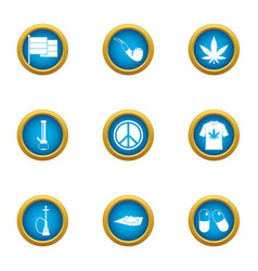 Against war icons set flat style vector