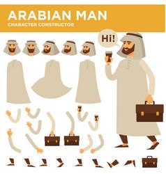arabian man character constructor vector image
