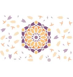 Arabic pattern with arabesque tile disintegration vector