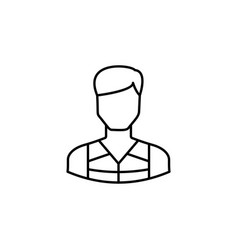 avatar kayak outline icon signs and symbols can vector image
