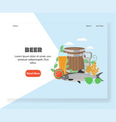 beer festival website landing page design vector image