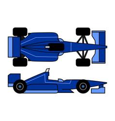 Blue racing car vector