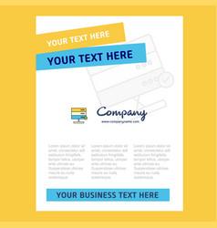 board title page design for company profile vector image