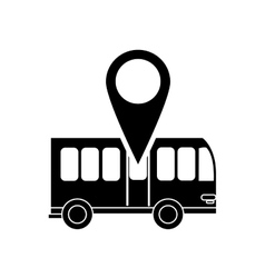 bus and gps map pointer icon vector image