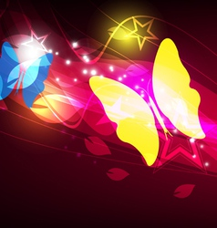 butterfly layout design vector image