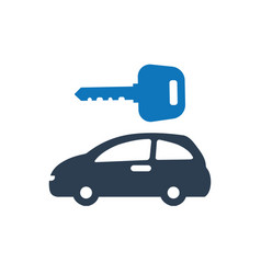 Car rental icon vector