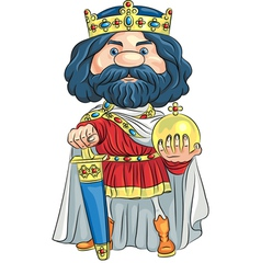 Cartoon King Charles the First vector