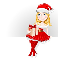 Christmas girl vector