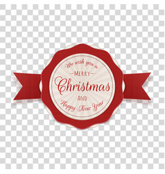 Circle merry christmas emblem with text vector