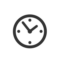 common clock icon isolated vector image
