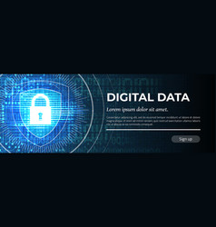 digital data blue background vector image