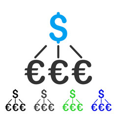 Dollar euro links flat icon vector