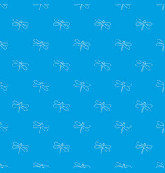 dragonfly pattern seamless blue vector image