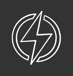 electric power sign chalk icon vector image