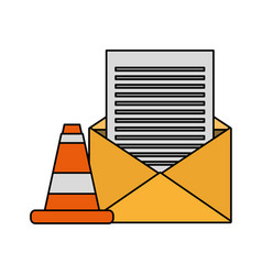 Email message warning data vector