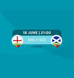 England vs scotland match football 2020 vector