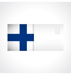 Envelope with Finnish flag card vector image