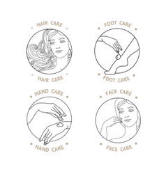 face hand foot and hair care vector image