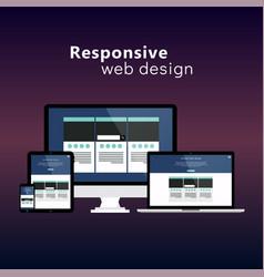 Flat responsive web design concept vector
