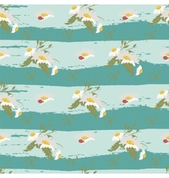 Floral chamomile retro vintage background vector