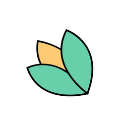 Flower doodle icon vector