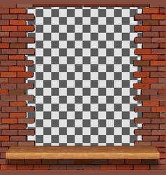 frame from an old brick wall vector image
