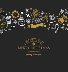 greeting merry christmas poster vector image