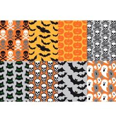Halloween seamless patterns vector