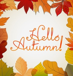 Hello autumn logo Fall concept vector image