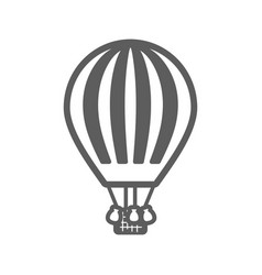 Hot air balloon outline icon summer vacation vector