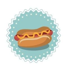 hot dog fast food menu vector image