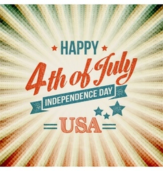 Independence Day typography card vector