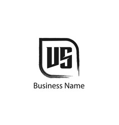 initial letter vs logo template design vector image