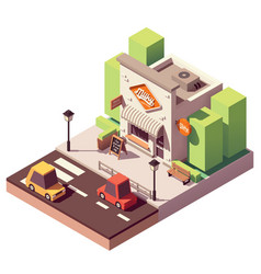 Isometric milk shop vector