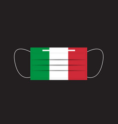 Italy flag printed on a mask vector
