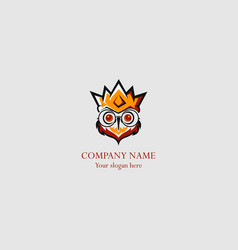 king owl abstract logo vector image