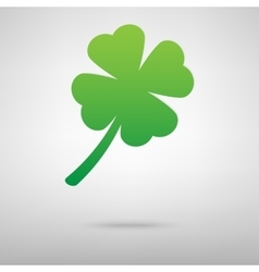 Leaf clover green icon vector