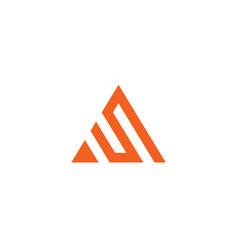 letter s logo alphabet icon set vector image vector image