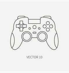Line flat computer part icon joystick vector