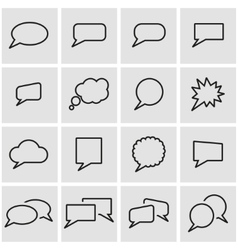 line speach bubbles icon set vector image