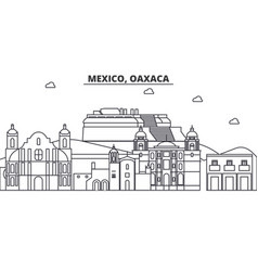 Mexico oaxaca architecture line skyline vector