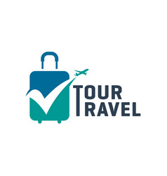modern holiday travel agency logo vector image