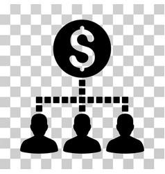 money recipients icon vector image