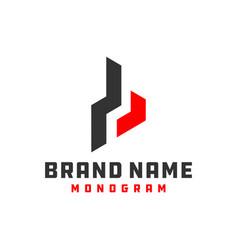 Monogram logo design letter b vector