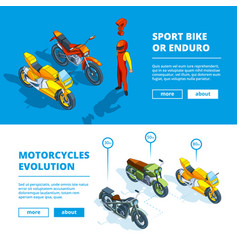 motorcycles banners template design vector image